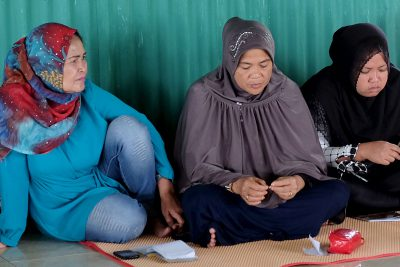 Fisherwomen's meeting in Cambaya, Makassar